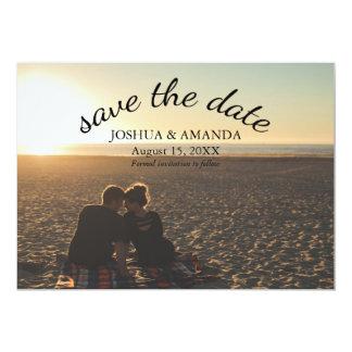 Save The Date Photo | Romantic Script Card