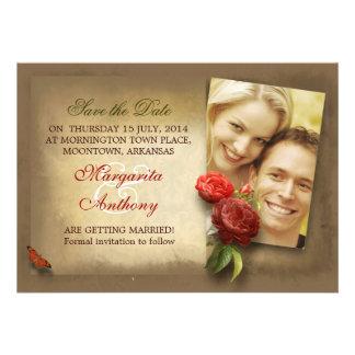 save the date photo vintage custom invitations