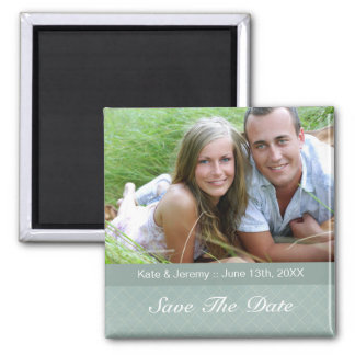Save the Date Photo Wedding Magnet