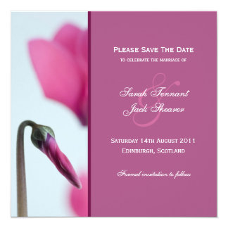 Save the Date Pink Flower Invitation