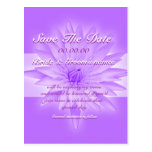 Save the date pink lily - customisable template postcard