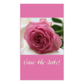 Save the Date pink rose Pack Of Standard Business Cards