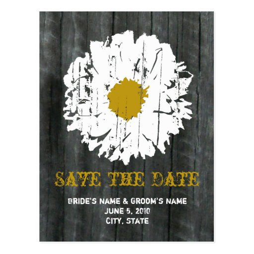 Save The Date Postcard - Barnwood Daisy