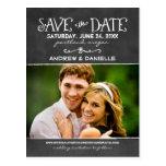 Save the Date Postcard | Black Chalkboard Charm