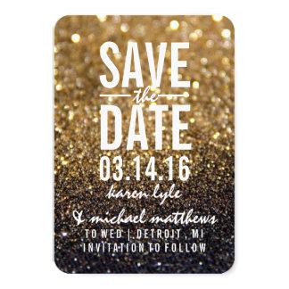 Save the Date/Postcard - Gold Lit Nite 9 Cm X 13 Cm Invitation Card