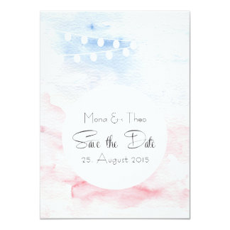 Save the DATE - postcard in tender tones 11 Cm X 16 Cm Invitation Card