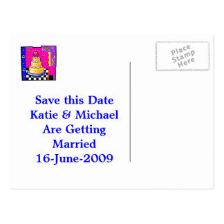 Save The Date Postcard (Insert Your Picture)