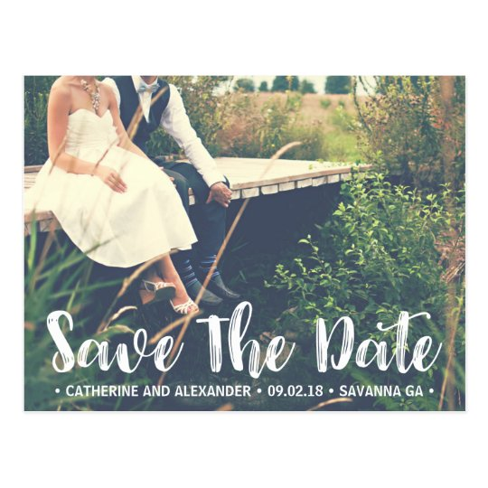 Save the Date Postcard | Retro Photo Postcard