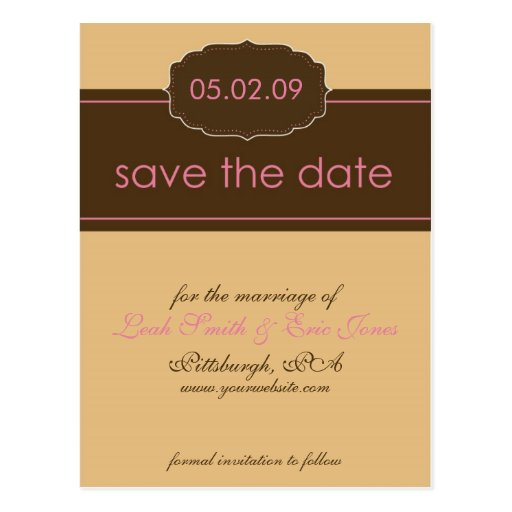 Save the date online template
