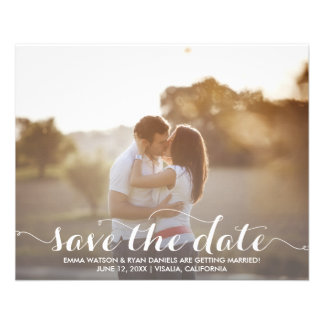 Save The Date Postcard Template 11.5 Cm X 14 Cm Flyer