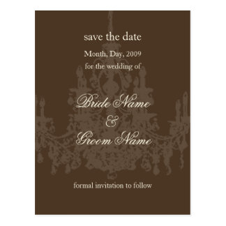 Save the Date postcards, chandelier Postcard