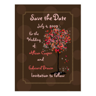Save the Date postcards chocolate fudge on maple