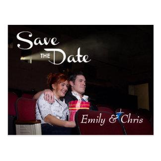 Save the Date Pretty Script Postcard