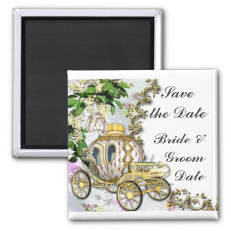 Save the Date Princess Carriage Wedding Magnets