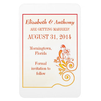 save the date rectangular photo magnet