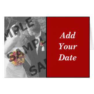 Save The Date - Red Greeting Card