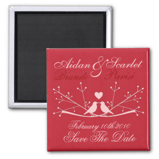 SAVE THE DATE RED WEDDING Magnet Customize