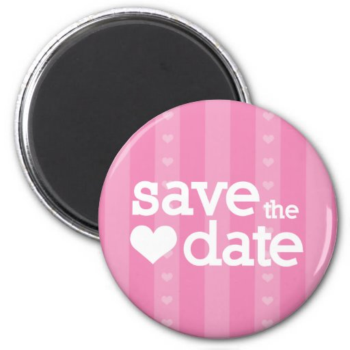 save the date refrigerator magnet