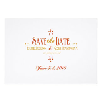 Save the Date_Reserved for Heather and George 13 Cm X 18 Cm Invitation Card