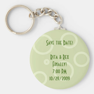 Save the Date! Retro Keychain