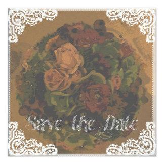 """""""Save the DATE"""" romantically 13 Cm X 13 Cm Square Invitation Card"""