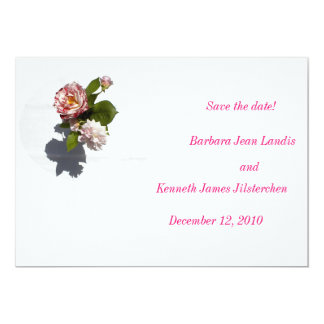 Save the Date: Rose Arrangement 13 Cm X 18 Cm Invitation Card