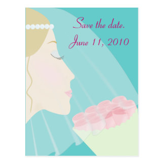 Save The Date - Rose Bride Post Cards