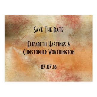 Save the date rustic grunge abstract design postcard