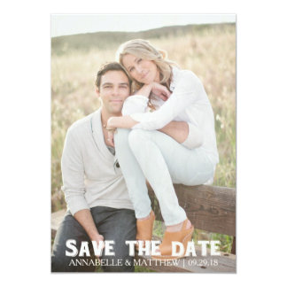 Save the date rustic invitation vintage