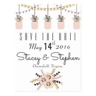 Save the Date - Rustic Postcard