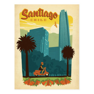 Save the Date | Santiago, Chile Postcard