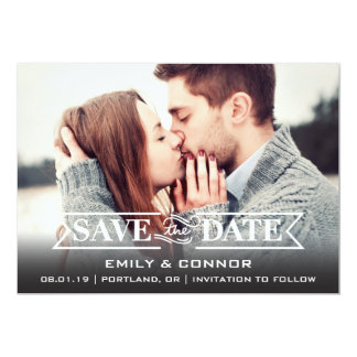 Save the Date | Simply Clear 13 Cm X 18 Cm Invitation Card