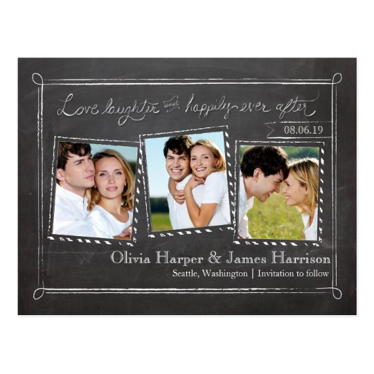 Save the Date | Snapshots Chalkboard Postcard