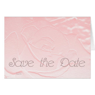 Save the Date Soft Pink Rose Greeting Card