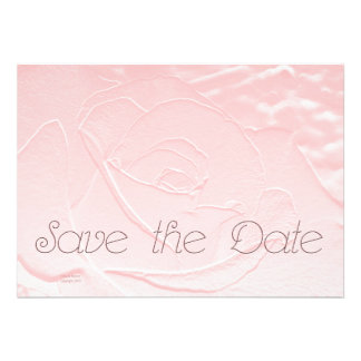 Save the Date Soft Pink Rose Announcement