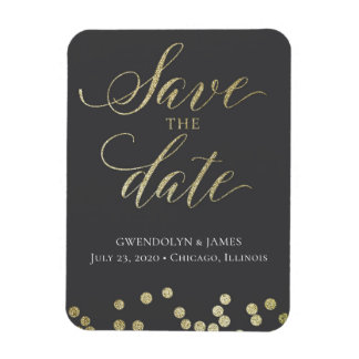 Save the Date Sparkle Magnet
