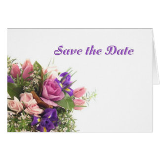 Save the Date Spring Flowers Card