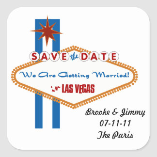 Save the Date Square Sticker