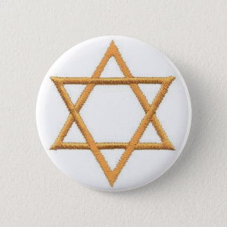 Save the Date/Star of David 6 Cm Round Badge