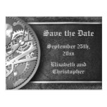 Save the date steampunk gears black and white
