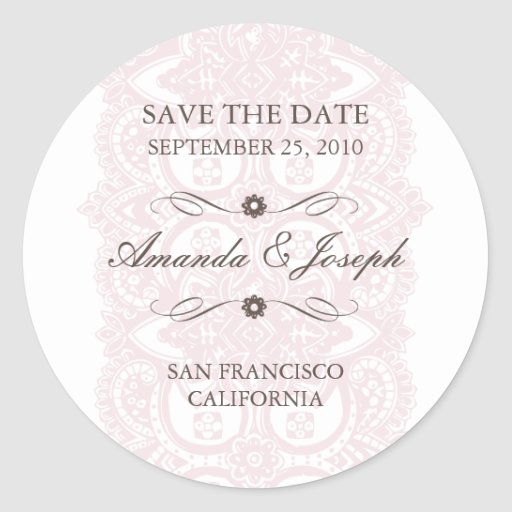 Save The Date Sticker-Vintage Blossom