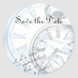 Save the Date Stickers Tags Timepiece Clocks