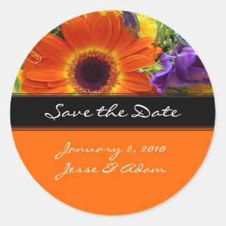 Save the date stiickers, envelop sealers round sticker