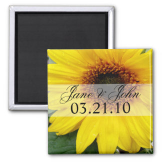 Save the Date Sunflower Refrigerator Magnet