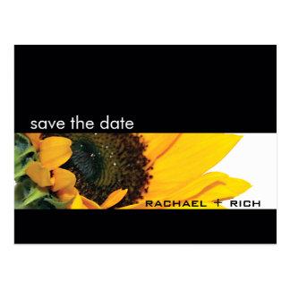 SAVE THE DATE :: sunflower Postcard