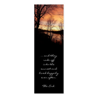 Save the Date Sunset Bookmark Pack Of Skinny Business Cards