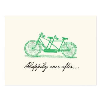 Save the Date-Tandem Bike Postcard