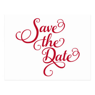 save the date word art