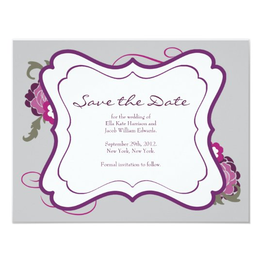 Save the Date // The Plum Bouquet Collection Card