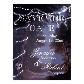 Save the Date - Tree Lights Postcard